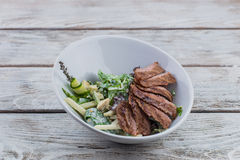Grilled meat and salad Royalty Free Stock Photography