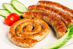 Grilled meat sausages Stock Photography