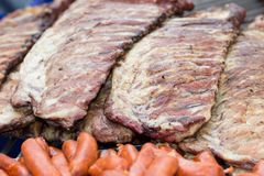 Grilled meat Stock Image