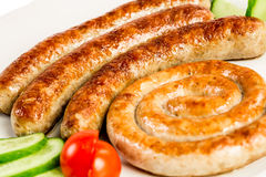 Grilled meat sausages Royalty Free Stock Photos