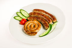 Grilled meat sausages Royalty Free Stock Photo