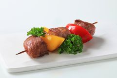 Grilled meat skewer Royalty Free Stock Photography