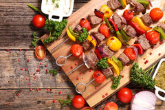 Grilled meat skewer Stock Image