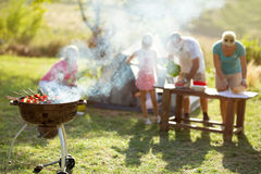 Grilled meat skewers barbecue Stock Image
