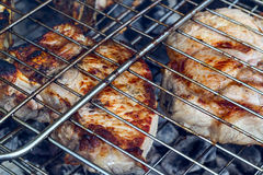 Grilled meat skewers, barbecue. Stock Photography