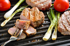 Grilled meat Stock Photos
