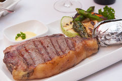 Grilled meat steak and vegetables Stock Photography