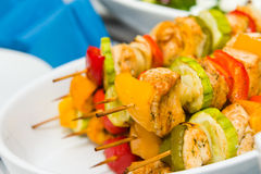 Grilled meat on sticks Royalty Free Stock Photography