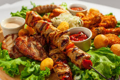 Grilled meat on sticks (shashlyk) Stock Image