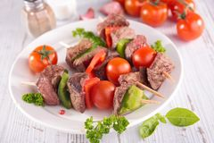 Grilled meat with vegetables Royalty Free Stock Photo