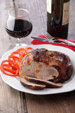 Grilled meat and wine Royalty Free Stock Photography