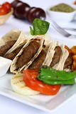 Grilled meatball. Grilled Turkish meatball on dinner table Stock Photography