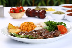 Grilled meatball. Grilled Turkish meatball on dinner table Stock Images