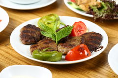 Grilled meatball Stock Photography