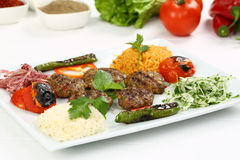 Grilled meatball Stock Images