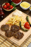 Grilled meatball Royalty Free Stock Photo