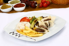 Grilled meatball. Grilled Turkish meatball on plate Royalty Free Stock Photo
