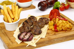 Grilled meatball Royalty Free Stock Images