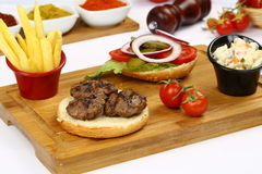 Grilled meatball. Grilled Turkish meatball on wooden Royalty Free Stock Photo