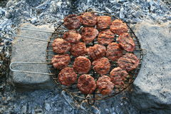 With grilled meatballs Stock Photography