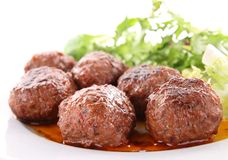 Grilled meatballs Royalty Free Stock Image