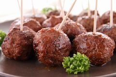 Grilled meatballs Royalty Free Stock Images