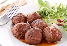 Grilled meatballs Stock Images