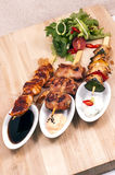 Grilled meats different kinds Stock Images