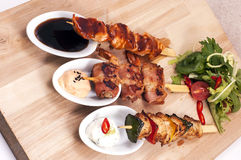 Grilled meats different kinds Royalty Free Stock Photography