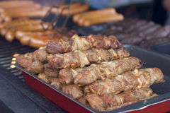 Grilled meats and sausage Stock Images