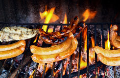 Grilled meats. Some different type of grilled meats royalty free stock images