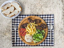 Grilled minced beef meal set. Stock Photography