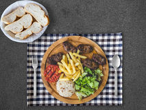 Grilled minced beef meal set. Stock Image