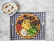 Grilled minced beef meal set. Royalty Free Stock Photo