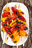 Grilled Mini Sweet Peppers Royalty Free Stock Images