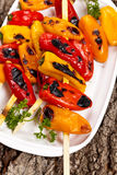 Grilled Mini Sweet Peppers Stock Image