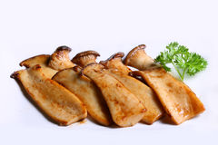 Grilled mushroom. With garlic and pepper Royalty Free Stock Photos