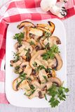 Grilled mushroom and parsley Stock Images