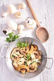 Grilled mushroom and parsley Stock Photography