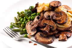 Grilled mushrooms Royalty Free Stock Photos