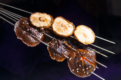 Grilled mushrooms Stock Image
