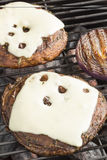 Grilled Mushrooms Stock Photography