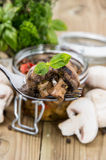Grilled Mushrooms (Antipasti) Stock Photos
