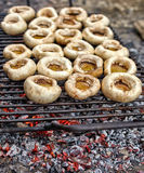 Grilled mushrooms Stock Images