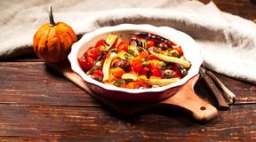 Grilled Mushrooms and Vegetables. Vegetarian food concept. Copy space, closeup royalty free stock photography