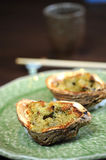 Grilled mussel clam Royalty Free Stock Image
