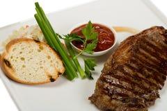 Grilled new york steak Stock Image