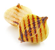 Grilled onions royalty free stock photos