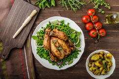 Grilled organic bio chicken Royalty Free Stock Image