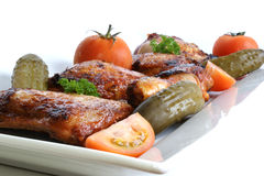 Grilled organic chicken meat Stock Photography